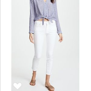Mother white skinny jeans